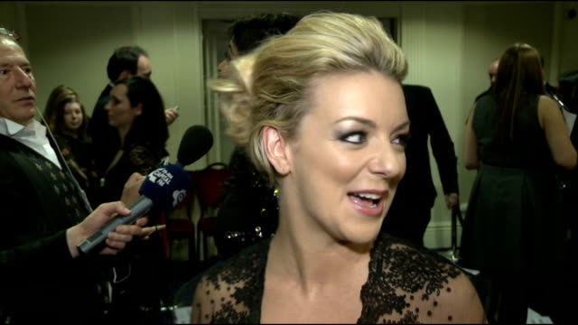 rts programme awards 2013 interviews sheridan smith interview sot / charlie brooker interview sot - sheridan smith stock videos & royalty-free footage