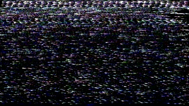 television static noise / very bad tracking - colour image stock videos & royalty-free footage