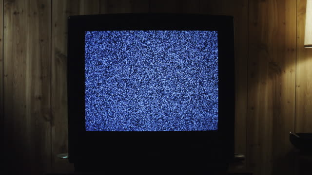 ms zi television static on tv set in living room / orem, utah, usa - television static stock videos & royalty-free footage