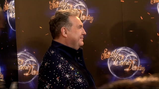 'strictly come dancing' press launch nancy dell'olio interview sot on why she's doing the show doesn't know yet lulu speaking to press sot russell... - lycra stock-videos und b-roll-filmmaterial