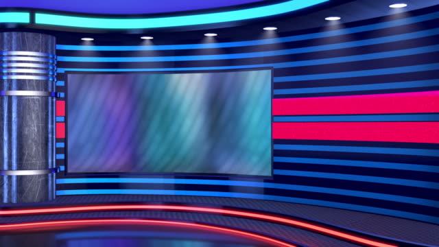 television studio, virtual studio set. ideal for green screen compositing. - moving image stock videos & royalty-free footage