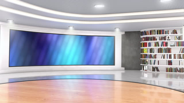 television studio, virtual studio set. ideal for green screen compositing. - media occupation stock videos & royalty-free footage