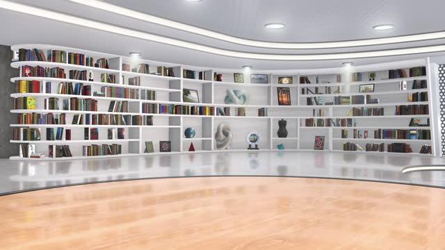 fernsehstudio, virtuelles studio-set. ideal für greenscreen compositing. - kulisse bühne stock-videos und b-roll-filmmaterial