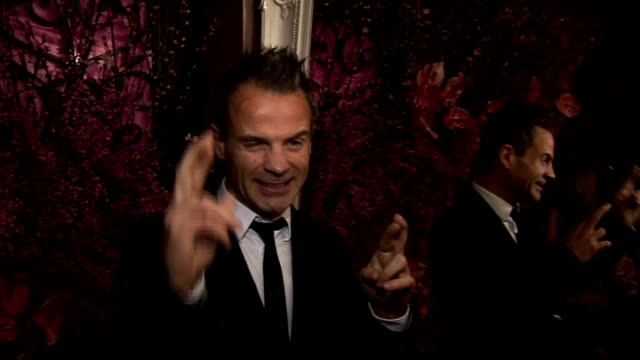 stockvideo's en b-roll-footage met the movie show launch party red carpet interviews julian on favourite film single man on what colin firth should do next he's a true brit in movies... - duran duran
