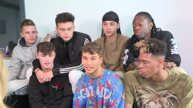 'the x factor' finalist interviews england london int united vibe misunderstood interview sot - finalist stock videos and b-roll footage