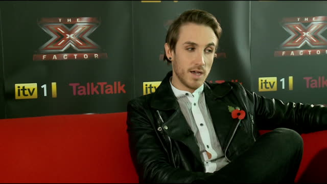 stockvideo's en b-roll-footage met the x factor: kye sones interview; england: london: int kye sones interview sot - on leaving the show / on other contestants and judges / future... - spelkandidaat