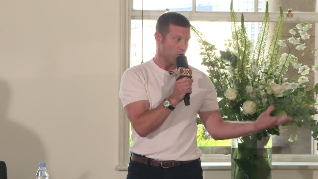 'The X Factor' New judges press conference ENGLAND London INT **Microphone's not working properly in parts** Dermot O'Leary introduction SOT Louis...