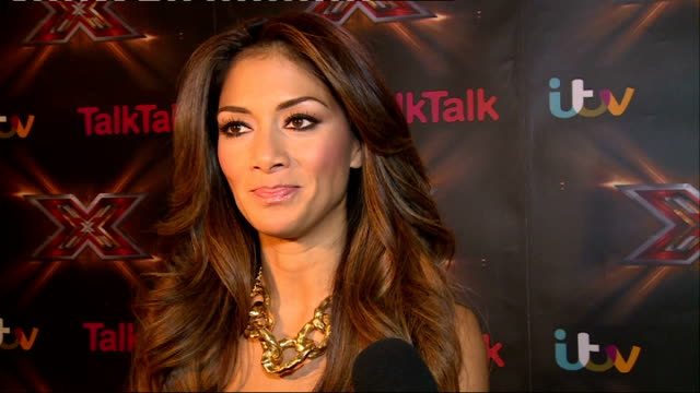 the x factor prefinal interviews nicole scherzinger interview sot - nicole scherzinger stock videos and b-roll footage