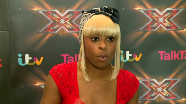 'the xfactor' relley c interview england london int relley c interview sot - reality fernsehen stock-videos und b-roll-filmmaterial