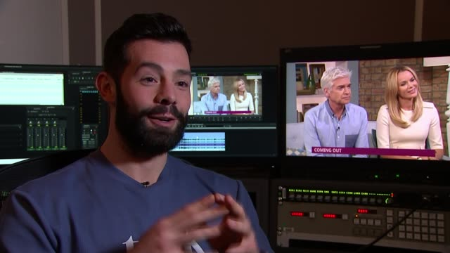'this morning' presenter phillip schofield announces he is gay; england: london: int charlie king interview sot. - phillip schofield stock videos & royalty-free footage