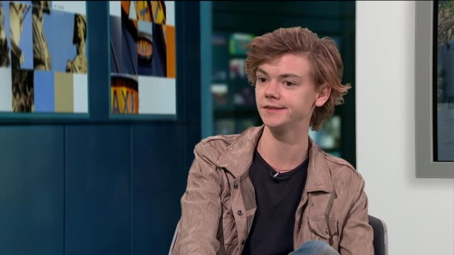 'thunderbirds are go' show returns thomas brodiesangster live studio interview sot - thunderbirds stock videos and b-roll footage