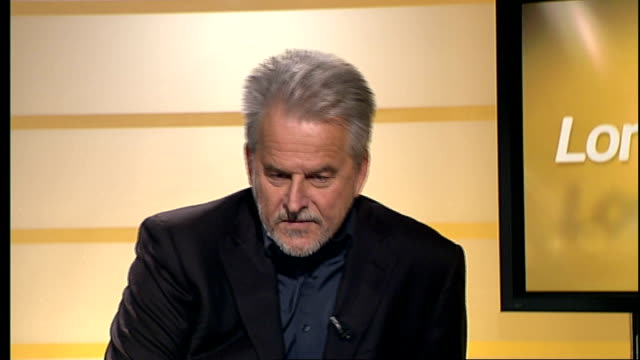 trevor eve interview england london gir int trevor eve live studio interview sot talks of the new drama pleasurable experience to shoot it talks of... - トレヴァー イヴ点の映像素材/bロール