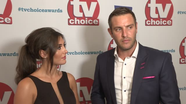 tv choice awards 2017 red carpet interviews elliot wright and sadie stuart interview sot harriet scott and ronan keating interview sot - ronan keating stock videos & royalty-free footage