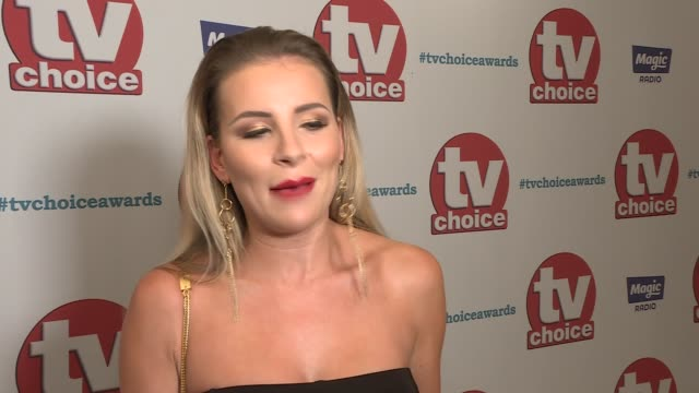 choice awards 2017: red carpet interviews; georgia kousoulou interview sot mike thalassitis interview sot - mike love stock videos & royalty-free footage