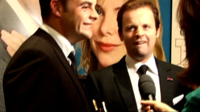 stockvideo's en b-roll-footage met tv quick and tv choice awards celebrity interviews general view anthony mcpartlin and declan donnelly being interviewed and soundbite sot on winning... - declan donnelly