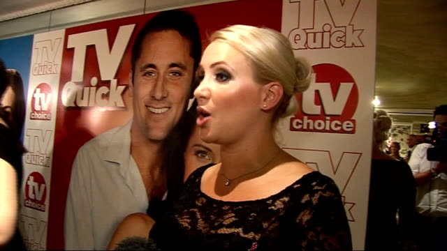 quick and tv choice awards: celebrity interviews; general view claire richards and interview sot - on dressing for the occasion whilst pregnant, on... - masterchef stock videos & royalty-free footage