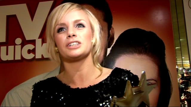 tv quick and tv choice awards celebrity interviews lauren crace interview sot on winning more confidence moving on proves eastenders is back on form... - イーストエンダーズ点の映像素材/bロール