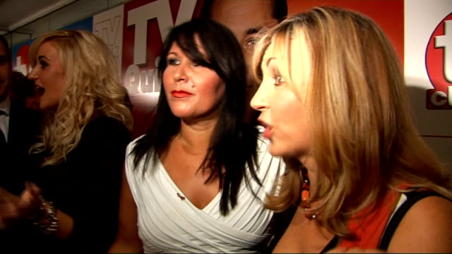 stockvideo's en b-roll-footage met tv quick and tv choice awards celebrity interviews zoe tyler lesley garrett sherrie hewson interview sot on the event on kate thornton joining the... - lesley garrett