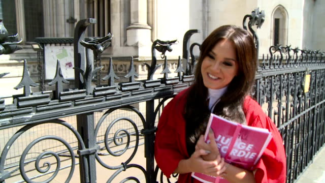 vicky pattison; vicky pattison interview sot - jokes about standing for parliament / on concept of new show / on having novel coming out / on being... - television game show stock videos & royalty-free footage