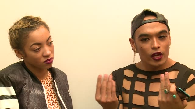 factor' kiera weathers and seann miley moore interview; england: london: int kiera weathers and seann miley moore joint interview sot - the x factor stock videos & royalty-free footage