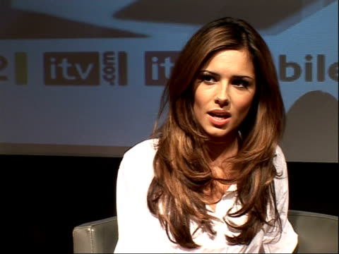 factor judges and hosts; cheryl cole and simon cowell interview continues sot - the x factor stock videos & royalty-free footage