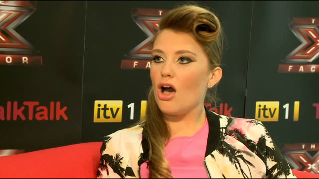 interview with x factor contestant ella henderson; england: london: int ella henderson interview sot - the x factor stock videos & royalty-free footage
