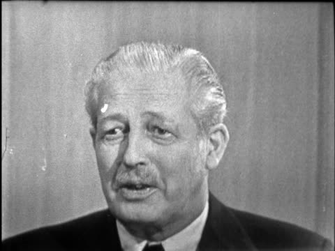 harold macmillan interview tell the people credits harold macmillan mp interview by robin day sof end titles - robin day stock-videos und b-roll-filmmaterial