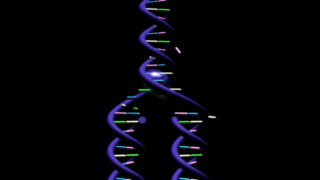 telomere part 2 - on black background - repetition stock videos & royalty-free footage