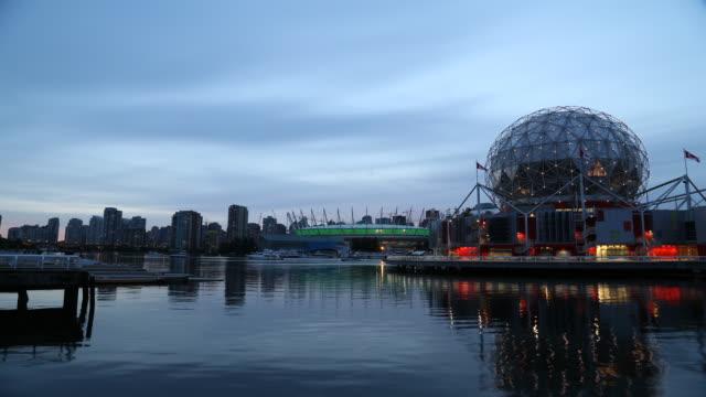 Telus Sphere Vancouver - Timelapse dusk