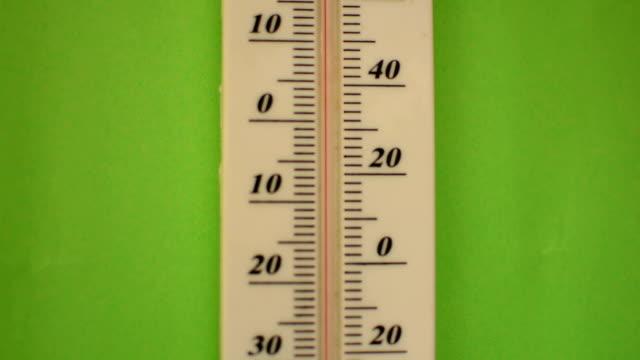 temperatur sich auf grünen bildschirm - thermometer stock-videos und b-roll-filmmaterial