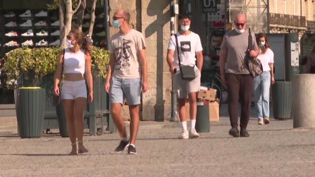 temperatures could rise up to 34°c in rennes today while record temperatures are expected across france in midseptember - rennes france stock videos & royalty-free footage
