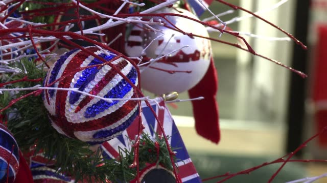 temperatures in london are pushing 30 degrees but inside the city's top department stores a winter wonderland has been unveiled for visitors who just... - afp stock videos & royalty-free footage
