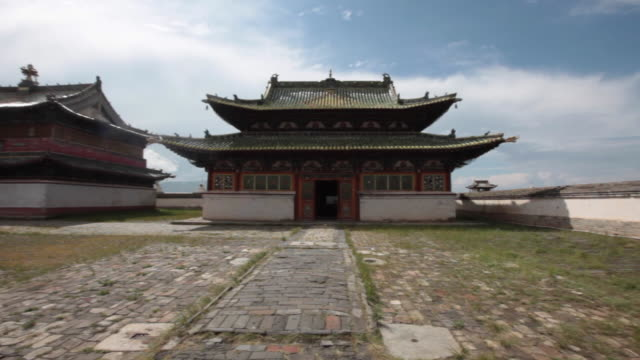 a temple at the erdene zuu monastery in mongolia - monastery stock videos & royalty-free footage
