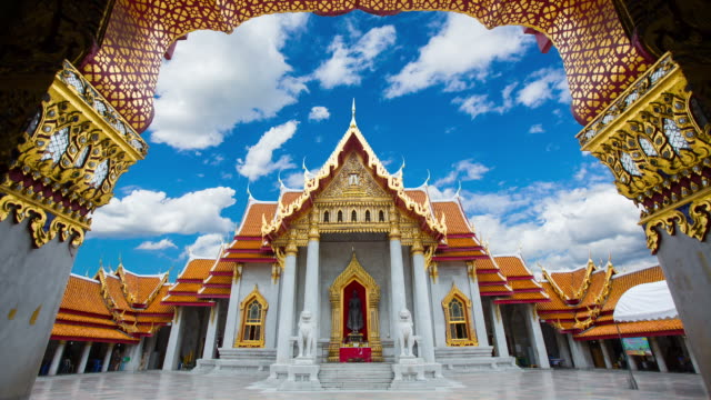 Temple built of marble beautifully, Wat Benchamabophit