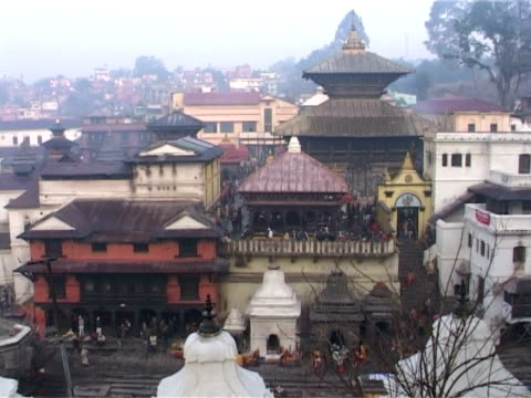 temple complex of pashupatinath - temple building stock videos & royalty-free footage