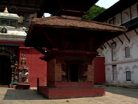 ms, temple courtyard, katmandu, katmandu valley, nepal - stationary process plate stock videos & royalty-free footage