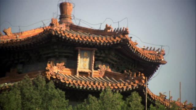 vídeos y material grabado en eventos de stock de ms, temple, high section, beijing, china - noreste de china