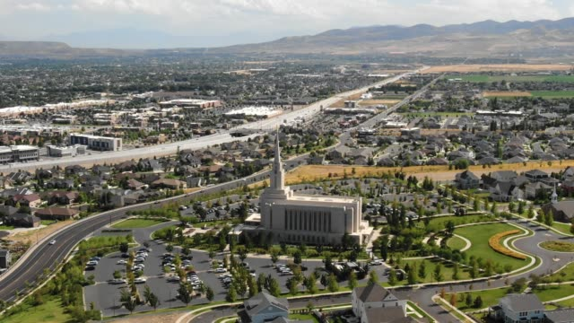 temple in south jordan - mormonism stock videos & royalty-free footage
