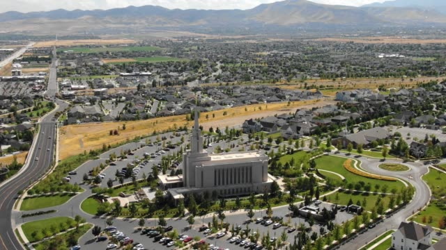 temple in south jordan - utah stock videos & royalty-free footage
