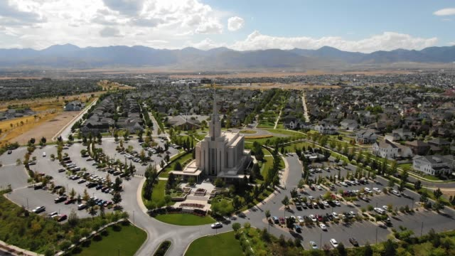temple in south jordan - temple building stock videos & royalty-free footage