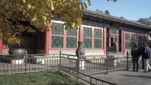 temple in the summer palace, unesco world heritage site, beijing, people's republic of china, asia - summer palace beijing stock videos & royalty-free footage