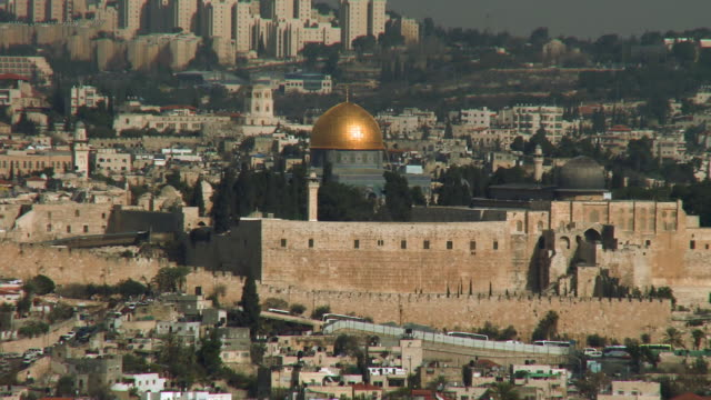 Temple mount and ancient walls of Jerusalem's Old City