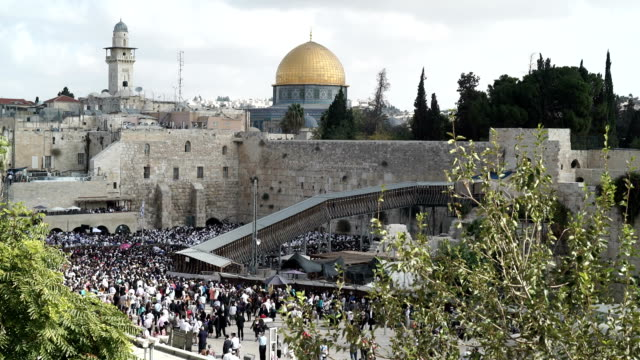 temple mount & dome of the rock - jerusalem stock videos & royalty-free footage