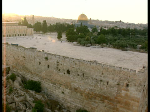 AERIAL WS Temple Mount, Jerusalem, Israel