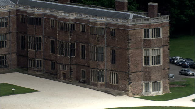 temple newsam  - aerial view - england, united kingdom - tracery stock videos and b-roll footage