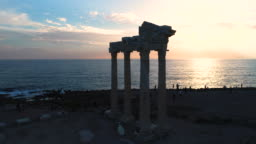 Temple of Apollo. Ancient ruins in Side Turkey