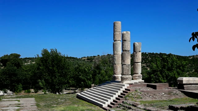 hd: temple of apollon smintheus, canakkale, turkey - parthenon athens stock videos and b-roll footage