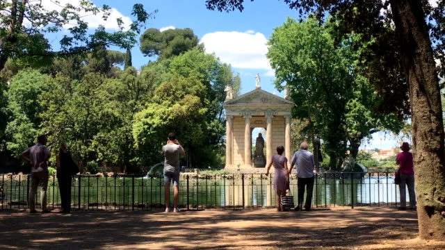 Temple of Asclepius at Villa Borghese Park in Rome