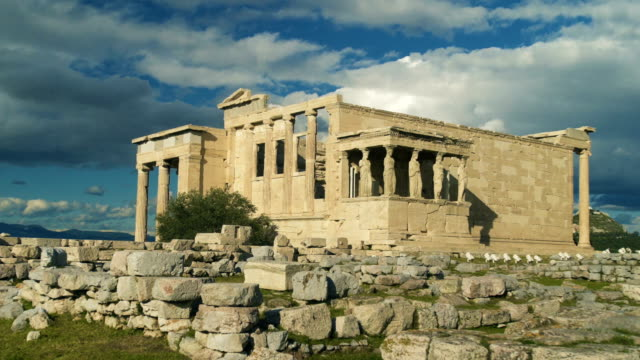 temple of athena erechtheion - parthenon athens stock videos & royalty-free footage