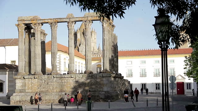 évora templo de diana - évora district stock videos & royalty-free footage